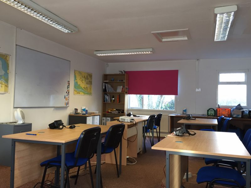 The main teaching classroom in Rhu