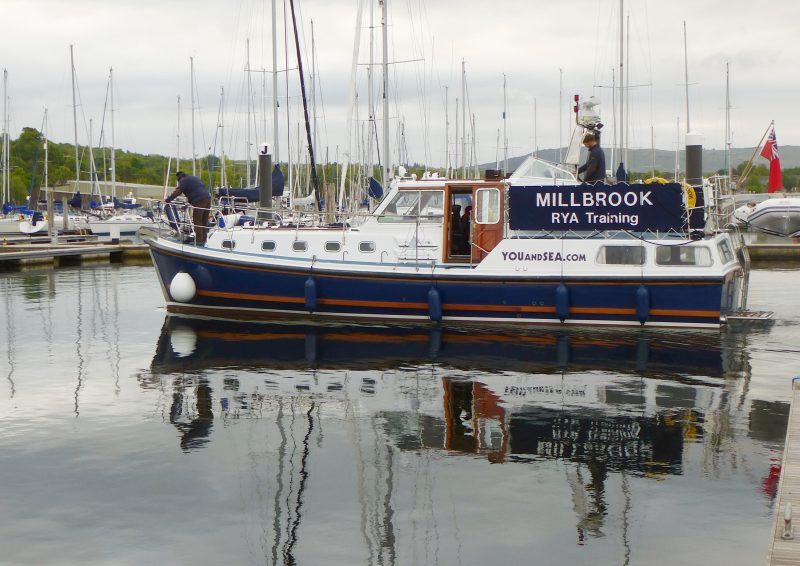 Millbrook, our Nelson 42, for motor cruiser training, boat trips, & Duke of Edinburgh expeditions